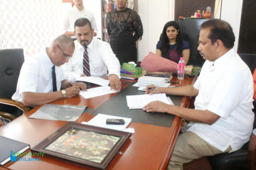 Fee Protection Agreement with Mr. Deepal Senanayake