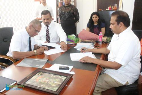 Fee Protection Agreement with Mr. Deepal Senanayake