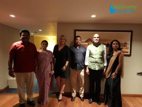 Meeting Officials from the Indian High Commission to SL and SL to India