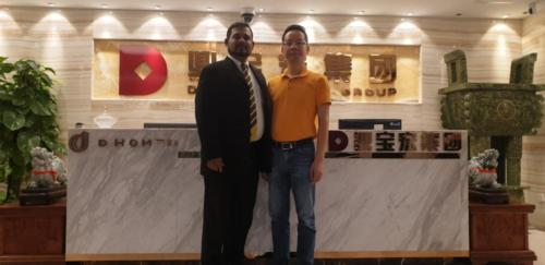 Meeting with the Director of DINBAOHONG GROUP