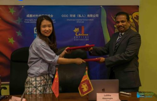 MoU Signing between Chengdu Association and Chelinaa Capital Corporation